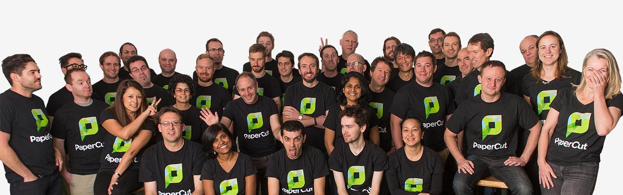 The PaperCut Australian team.