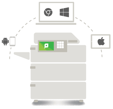 PaperCut MF provides secure mobile and BYOD printing for HP printers and copiers.