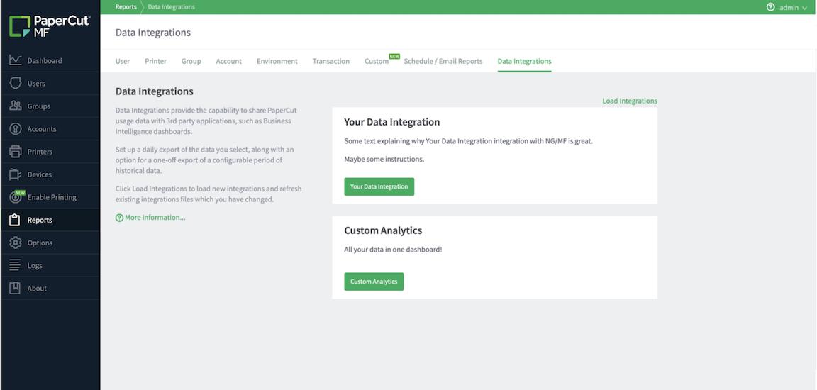 Data Integrations in PaperCut MF