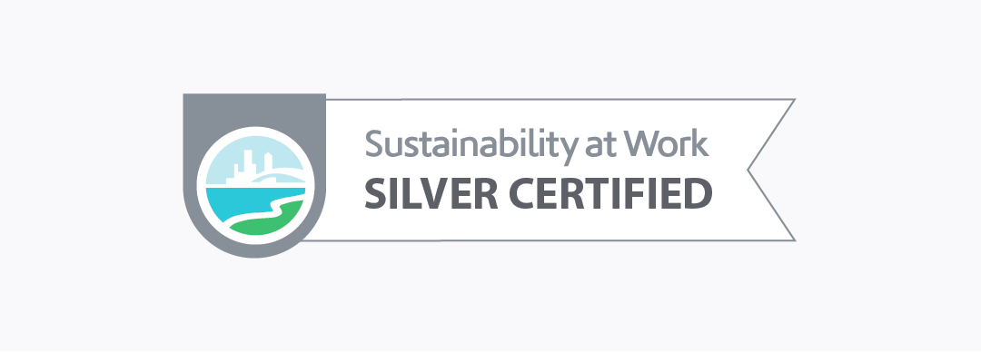 Sustainability at Work certification badge
