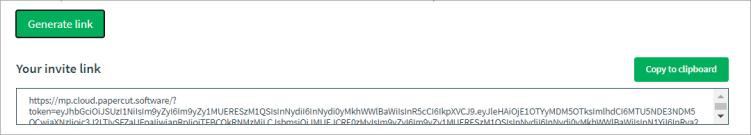 Screenshot showing the link generation (it's super long!)