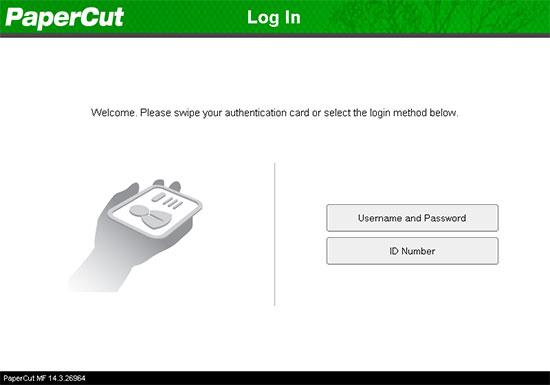 An image showing the PaperCut MF Canon login interface