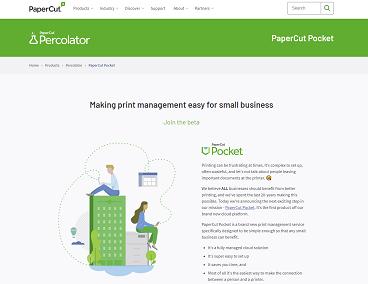 PaperCut Pocket Percolator program screenshot