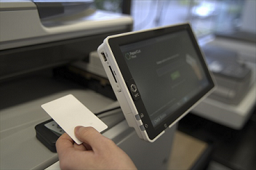 cloud-connected MFD/MFP touchscreen software and secure print release with ID card