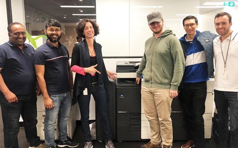 Photo of the PaperCut Hive Konica Minolta team members