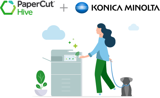 Project Konica Minolta app for PaperCut Hive