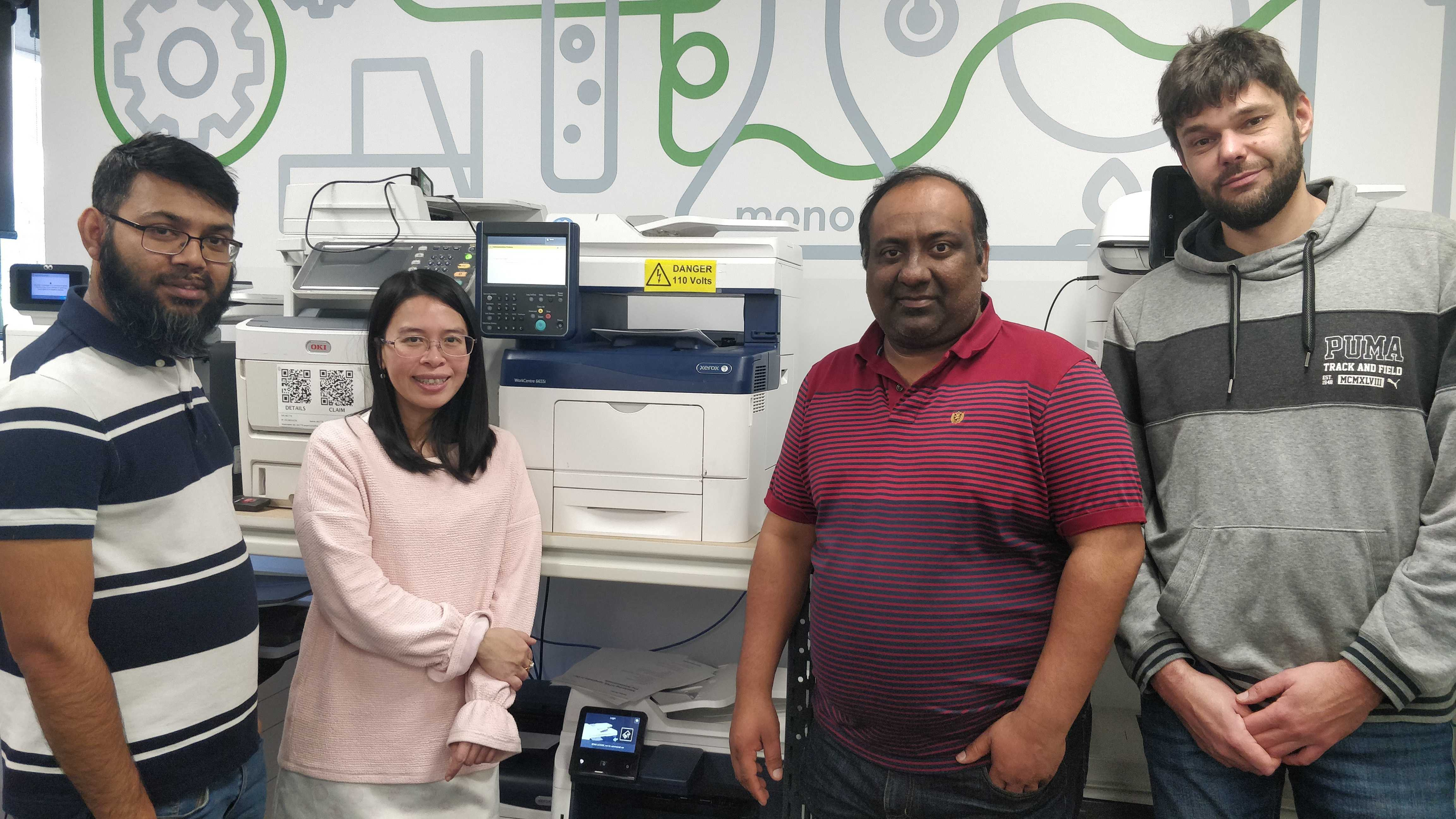 Photo of the PaperCut Hive Xerox team members