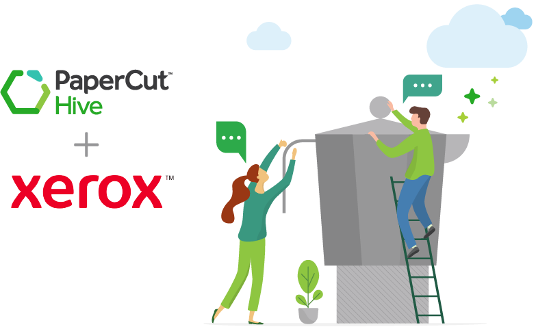 Xerox and PaperCut Hive embedded app