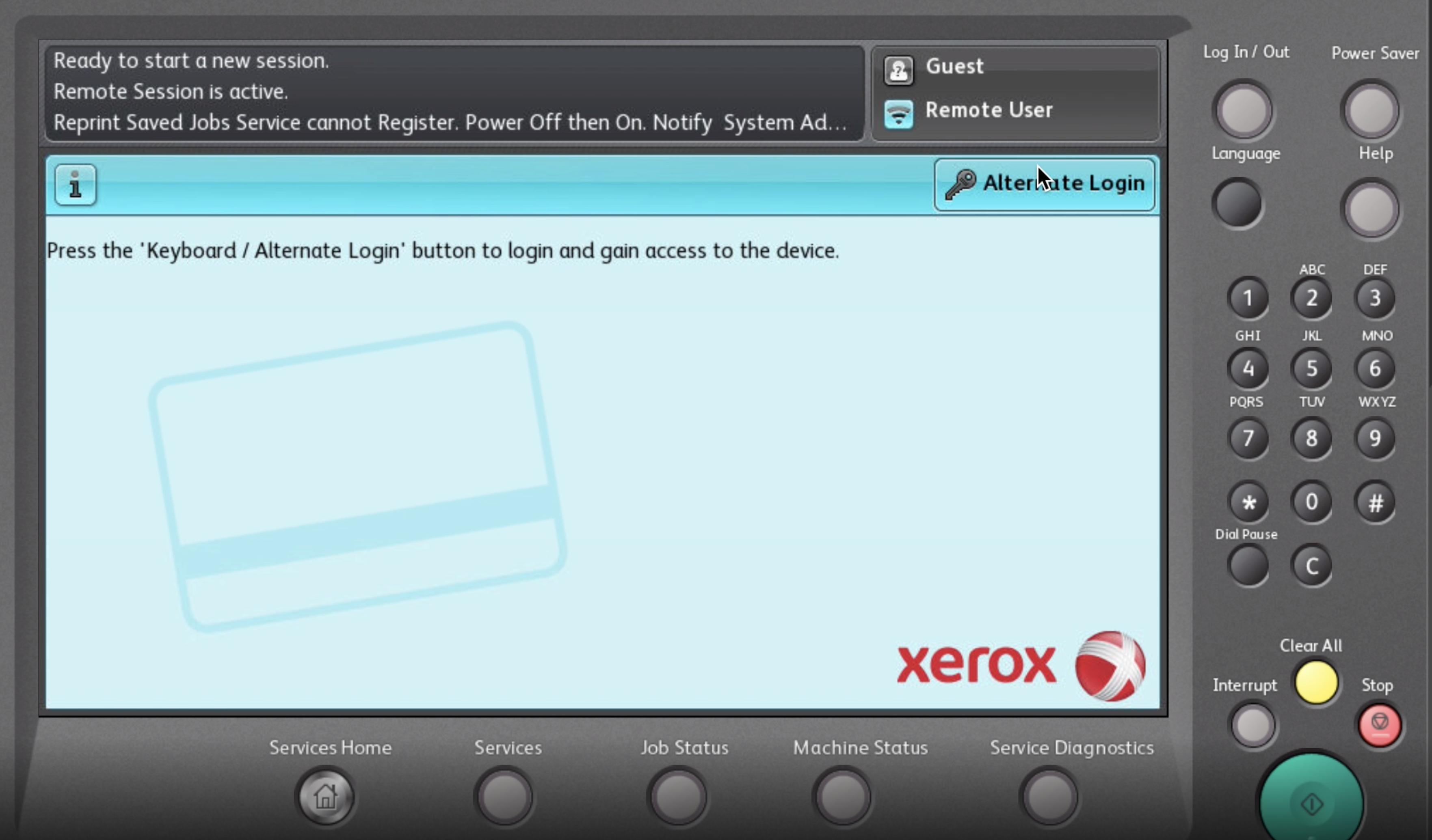 Xerox embedded app for PaperCut Hive App