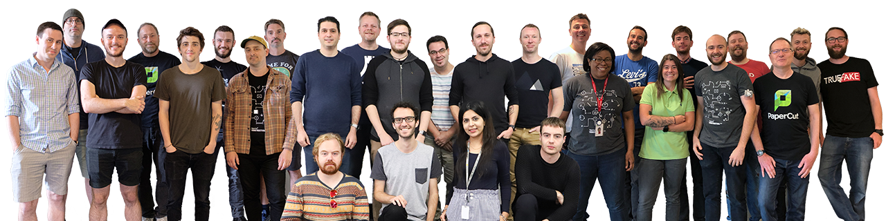 PaperCut support team photo