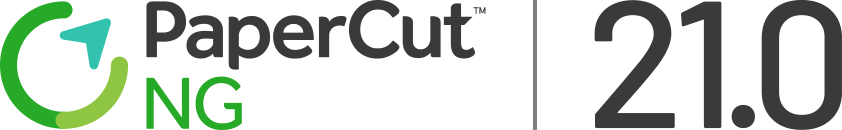 PaperCut NG 21.0 logo